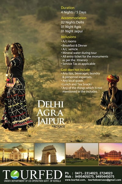 tourfed delhi agra jaipur